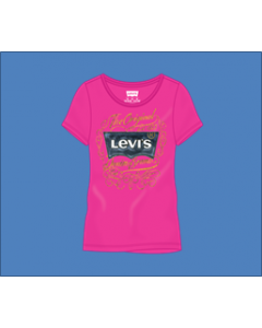 Levis girls short sleeve printed tees assortment 48pcs.