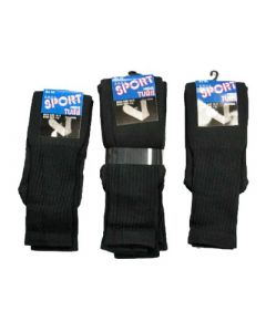 Men's Black tube socks 96pairs