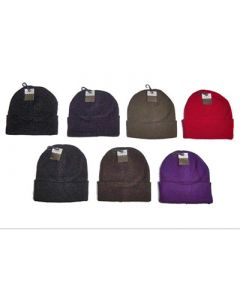 Adult Knit Hats - Assorted Colors 96pcs.