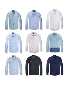 Scotch & Soda men's long sleeve button fronts 30pcs.
