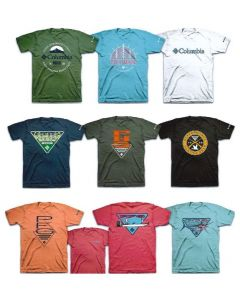 Columbia wholesale men's short sleeve tee assortment 24pcs.