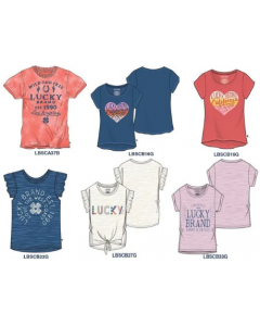 Lucky Brand Wholesale Girls tees assortment 48pcs.