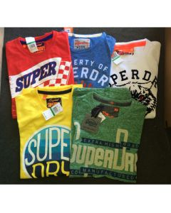 Super Dry mens s/s t-shirt assortment 24pcs